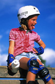 Flicka som sportar