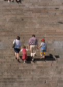 Familj i trappa