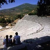 Amfiteater i Epidauros, Grekland