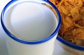 Mjölk i glas