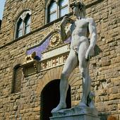 Davidstaty av Michelangelo i Florens, Italien