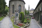 Sebastiansfriedhof kyrkogård i Salzburg, Österrike