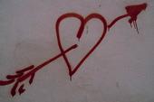 Hjärta på vägg