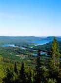 Utsikt över Kultsjön, Lappland