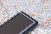 Bil GPS och karta