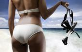 Kvinna i bikini