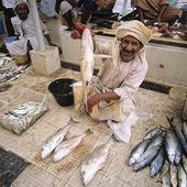 Fiskmarknad i Muskat, Oman