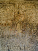 Bas-relief. Angkor Wat. Kambodja