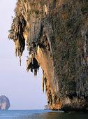 Kalkstensklippor vid Krabi, Thailand