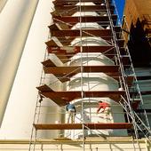 Målning av silo