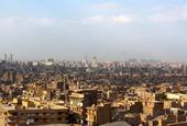 Vy över Kairo, Egypten
