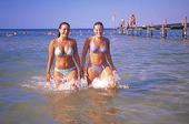 Kvinnor som badat