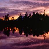 Skymning Stora Sjöfallets nationalpark, Lappland