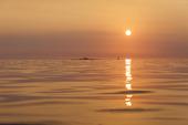 Solnedgång Nidingen, Halland