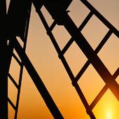 Solnedgång vid väderkvarnsvinge, Öland