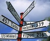 Skylt i Nyslott, Finland