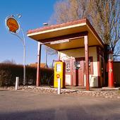 Äldre bensinstation