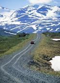 Grusväg i Sitasjaure, Lappland