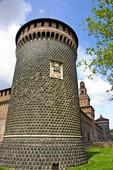 Sforzesco slottet i Milano Italien