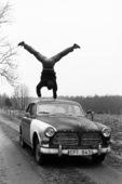 Gymnast on biltak