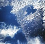 Satellitbild över Västsverige