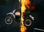 Motorcycle by fire