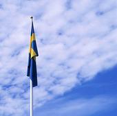 Svensk flagga utan vind