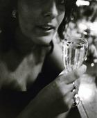 Kvinna med glas