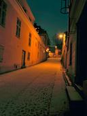 Visby vinterkväll, Gotland