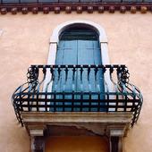 Balkong i venedig, Italien