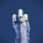 Acrobatic Airplanes at an Air Show. Florida. USA