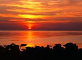 Solnedgång i havet, Halland