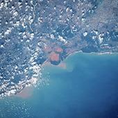 Satellitbild över Madagaskar