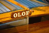 Båtnamn på träbåt