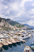 Hamn i Amalfi, Italien