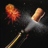 Champagne med fyrverkeri