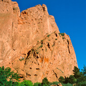 "Klätterberg vid ""Garden of Gods"" i Colorado, USA"