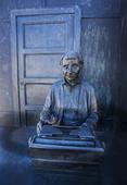 Astrid Lindgren statyn i Vimmerby, Småland