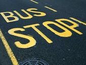 Busshållplats, England