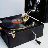 Äldre resegrammofon
