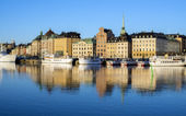 Stockholm i morgonljus