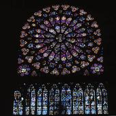 Kyrkfönster Notre Dame, Paris