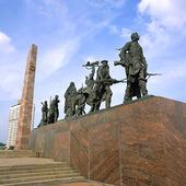 Fredsmonument i St Petersburg, Ryssland