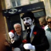 Mimskådespelare i Paris, Frankrike