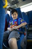 Buss med säkerhetsbälte