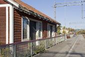 Järnvägsstation i Holmsveden, Hälsingland.