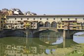 Bild av berömda Ponte Vecchio