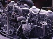 Frost på bilmotor