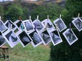 Fotografier på tork