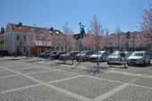 Bilparkering på Kungsbacka torg, Halland